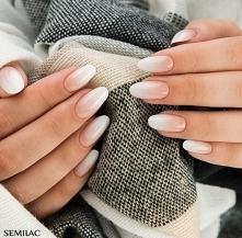 Semilac 203 + White Cream Art