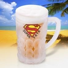 Chłodzący Kufel Do Piwa Super Tata 600ml - Super Prezent Dla Super Taty Doskonały Prezent Świąteczny, na Mikołajki ! <3 SmartGift.pl