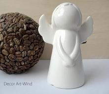 Ceramiczny aniołek, wysokość 12cm