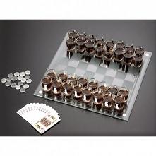 SZKLANE AlkoSzachy Zestaw do gry w szachy z kieliszkami zamiast pionków oraz z dodatkami. Doskonały Prezent Świąteczny, na Mikołajki ! <3 SmartGift.pl