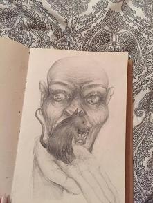 W sumie ten rysunek nie ma niczego przedstawiać, narysowałam go dokładnie rok...