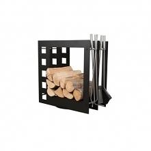 Nowoczesny stojak na drewno, który jest zarówno funkcjonalny jak i stanowy doskonały element dekoracji wnętrz.