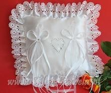 poduszka na obrączki, biała