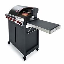 Doskonały grill gazowy Quisson Barbecook - grill z rożnem, płytą żeliwną, ter...