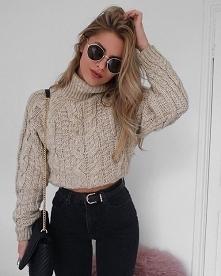 Jesienna stylizacja z krótkim swetrem - LINK W KOM!