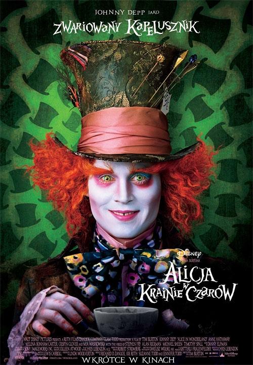 Alicja w krainie czarów reżyserowana przez Tima Burtona to arcydzieło:) jest kolorowo, śmiesznie, czarodziejsko. Pierwsza część bardziej mi się podobała, ale druga nie jest zła. Oczywiście rola niesamowitej Helena Bonham Carter, którą Tim Burton uwielbia i moja kochana Anne Hathaway oraz oczywiście Alicja:)