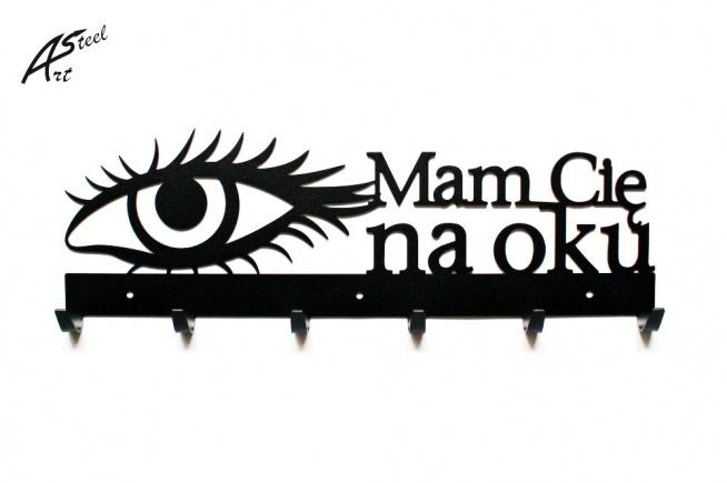 Mam Cię na oku - wieszak na ubrania - art-steel.pl