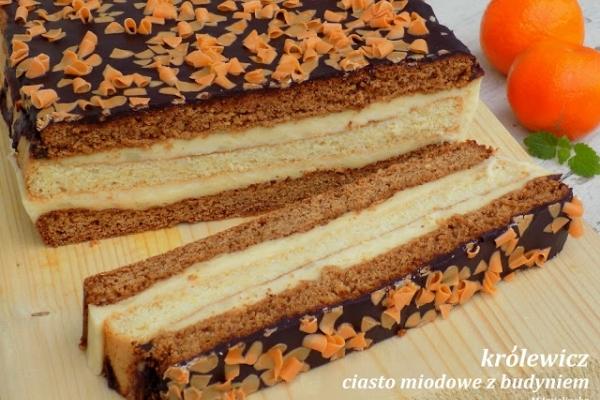 królewicz - ciasto miodowe z budyniem