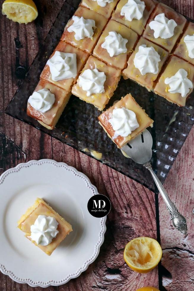 BEZ MIKSERA: Ciasto cytrynowe z lemon curd i domową bitąśmietaną w spray'u - Ciacho bez miksera