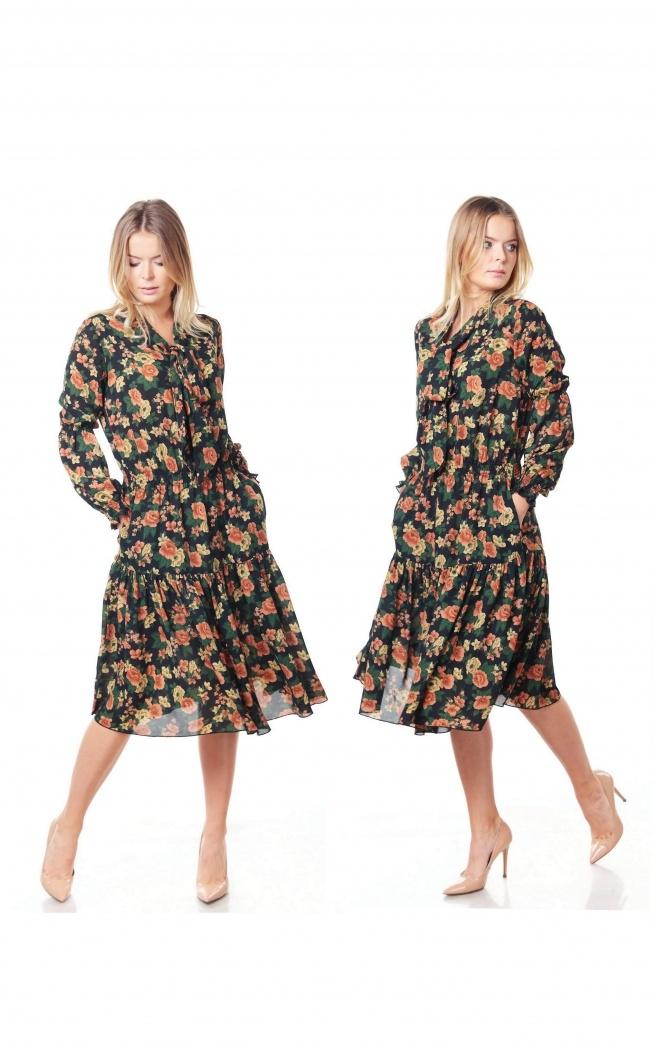 Romantyczna sukienka w kwiaty <3