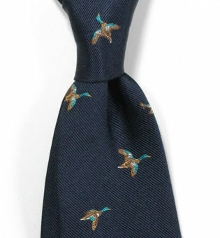 krawat w kaczki