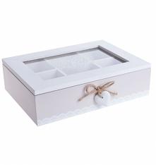 Pudełko drewniane do herbaty