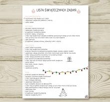 Lista zadań świątecznych do wydrukowania :)