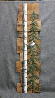 obrazek na drewnianych deskach.. cudo