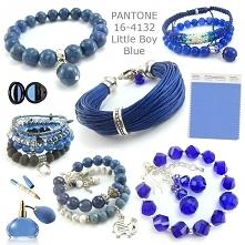 biżuteria pantone little boy blue- bransoletki niebieskie, bransoletki kobalt, bransoletki chaber, bransoletki kamienie