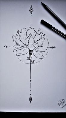 Jedna z moich ulubionych technik- rysunek cienkopisem ;)