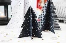 choinka z papieru - wraz ze wzorem do pobrania
