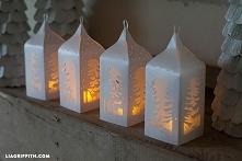 piękne papierowe latarnie -...