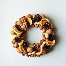 Wianek z pomarańczami i cynamonem, zielonamieta. dawanda.com