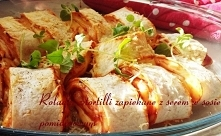 Roladki z tortilli zapiekane z serem w sosie pomidorowym