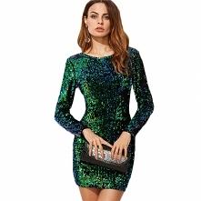 Seksowna, mieniąca się sukienka, idealna na imprezę sylwestrową lub karnawał!...