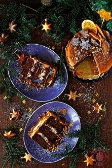 Piernikowy tort na winie - ...