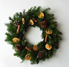 Wianek świąteczny naturalny, zielonamieta. dawanda.com