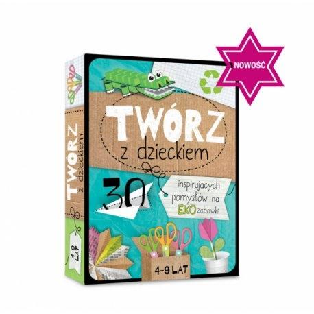"""Witajcie w poniedziałek:)  Dziś wyjątkowe karty dla dzieci już od 4 lat.   Karty z serii """"Twórz z dzieckiem"""" to 30 inspirujących pomysłów na fajne Eko zabawki, które można tworzyć z niepotrzebnych opakowań po produktach i innych prostych materiałów.  Zabawa uczy dziecko jak dbać o środowisko."""