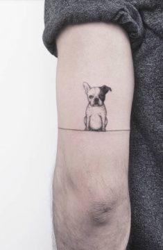 small dog tattoo pies