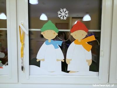 Zimowa dekoracja okienna