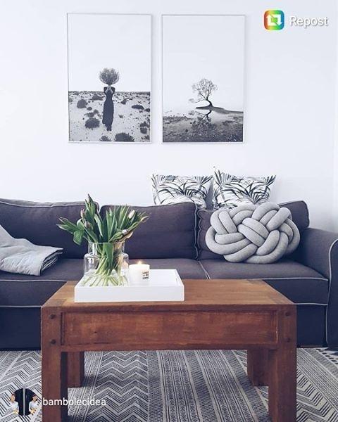 #poniedziałek #monday #knotpillow #poduszkasupel #poduszkasupeł #salon #wystrój #wnętrza #wystrojwnetrz #design #inspiracja #inspiracje #2017 #inspiration  #mieszkanie #home#szarość #grey #padideko