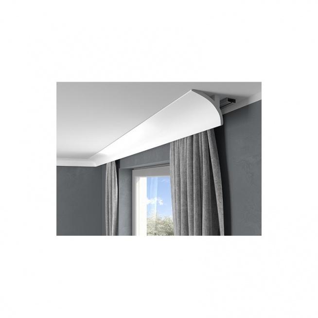QL011 Mardom decor to nowoczesne listwy do zabudowy karnisza. Te maskownice karnisza montuje się szybko za pomocą kleju montażowego. Całość dostępna jest w sklepie online Dekorplanet.pl . Ta sztukateria może być także stosowana jako listwa przysufitowa oświetleniowa po dodaniu do niej taśmy LED i nieco innym montażu.