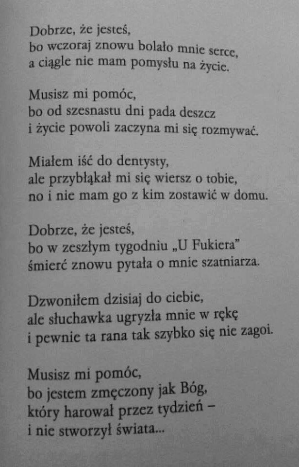 Piękny Wiersz Na Cytaty Zszywkapl