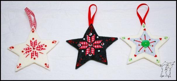 gwiazdy haftowane