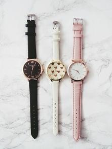 Sprzedam. Zegarek z tarczą w serduszka i zegarek na różowym pasku - mój nick ...