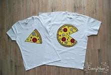 Koszulki dla pary ręcznie malowane specjalnymi farbami do tkanin, które nie spierają się :) Kliknij w zdjęcie po więcej! :)