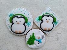 Pierniki świąteczne, pingwin