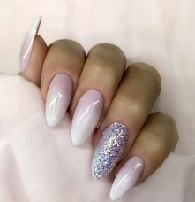 Nails hybryda ombre