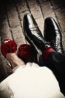 Kolorowe buty ślubne dla pa...