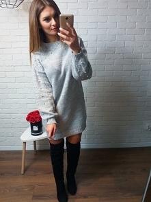 Sweterek w perełki <3