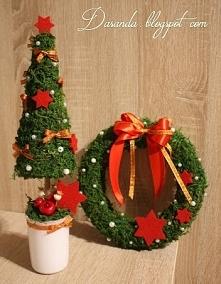 Dekoracja bożonarodzeniowa, z mchu