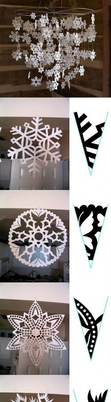 wzory na platki sniegu