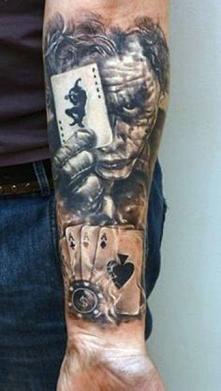 joker tattoo 3d
