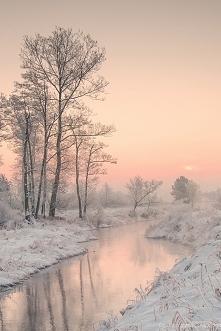 Magiczny, zimowy krajobraz :)