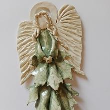 Anioły ceramiczne ręcznie r...