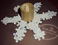 Jak wykorzystać pogubione puzzle? Można z nich stworzyć nietypową śnieżynkę -...
