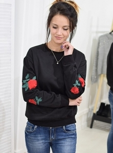 Bluza RICAMO haft czarna. Ottanta - sklep online