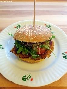 Przepis na burgery z batata i kaszy kuskus, polecam! :)
