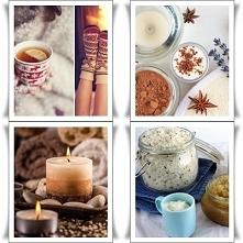 Przygotowywanie się do zimowego świątecznego czasu: -1 peeling pomarańczowo-czekoladowy pod prysznic -2 świeczki o korzennym zapachu -1 para grubych skarpet z reniferami -1 ciep...