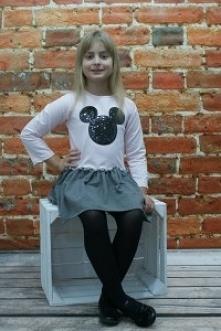 Sukienka Myszka zmieniające cekiny dostępna MiniModo.pl